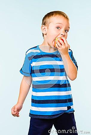 Boy and apple