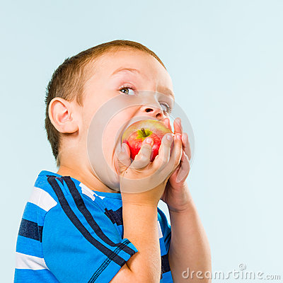 Boy and apple
