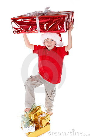 Boy as Santa Claus