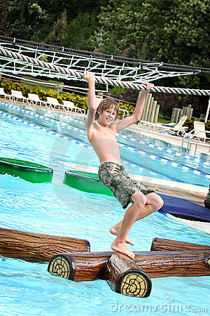 Free Boy At A Waterpark Stock Photography - 4320292