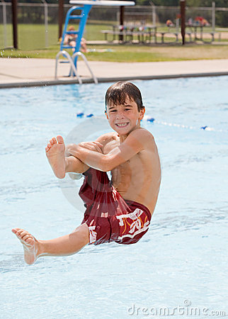 Free Boy At The Pool Stock Photography - 7715292