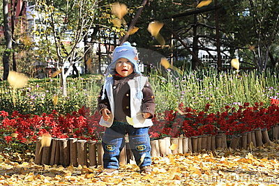 Boy in autumn