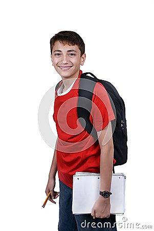 Boy with backback