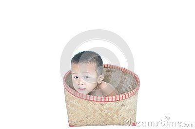 Boy in the basket