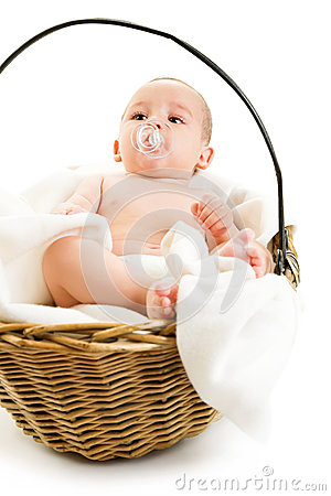 Boy in basket
