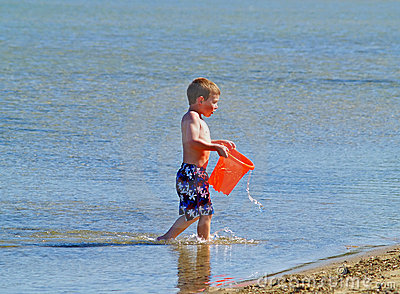 Boy at beach