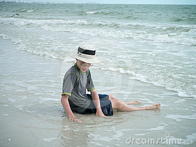 Boy on the Beach in Florida