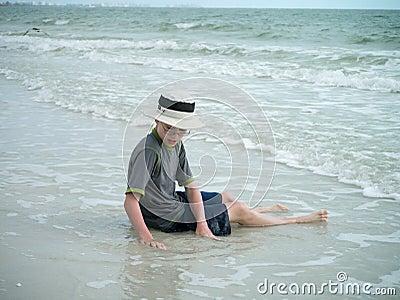 Boy on the Beach in Florida