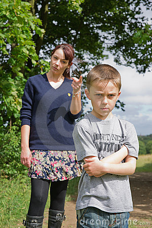 Free Boy Being Told Off By His Mum Stock Images - 20618114