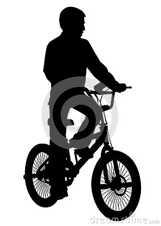 Boy with a bicycle