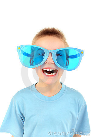 Boy in big glasses