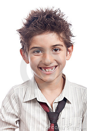 Boy big smile isolated