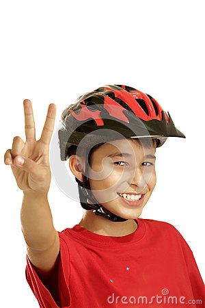 Free Boy Bike Helmet Stock Images - 25876794