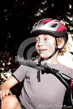 Boy Biker at Dusk