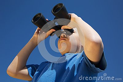 Boy with Binoculars