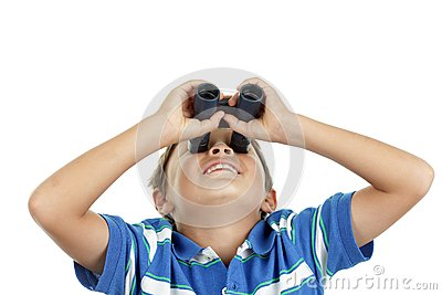 Boy and binoculars
