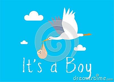 Boy Birth Illustration