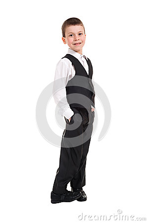 Boy in black costume