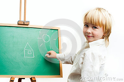 Boy at the blackboard