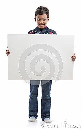 Boy With Blank Board