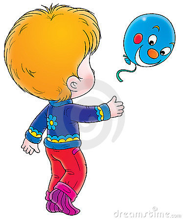 Boy with blue balloon