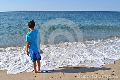 Boy at the Blue Beach