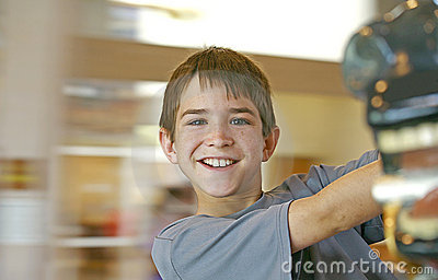 Boy with Blurred Background