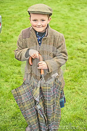 Boy at Braemar Royal Highland  Gathering Editorial Image