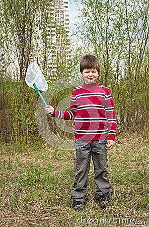 Boy with a butterfly net