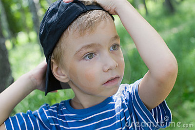 Boy with a cap
