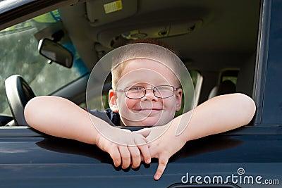 Boy car driver