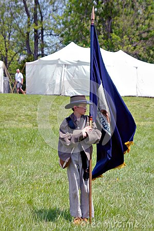 "Free Boy Carrying A Flag At The ""Battle Of Liberty"" - Bedford, Virginia Royalty Free Stock Photos - 111968808"