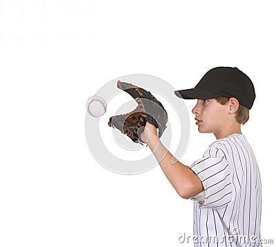Boy catching baseball2
