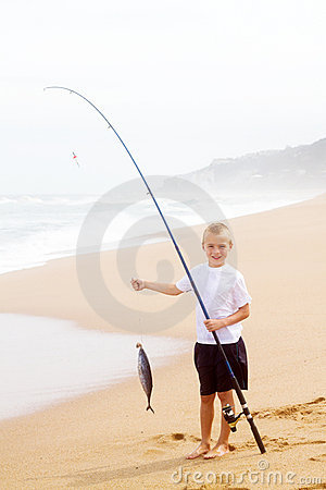 Free Boy Catching Fish Stock Images - 22172244