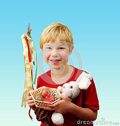 Boy celebrating Easter