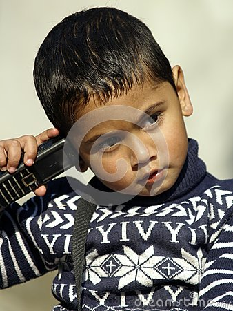 A boy on the cell phone
