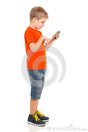Free Boy Cell Phone Royalty Free Stock Photo - 40216025