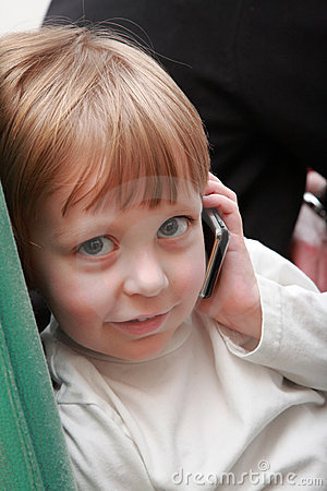 Boy with cellphone.