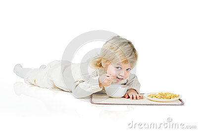 Boy and cereals