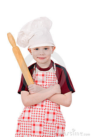 Boy in chef s hat