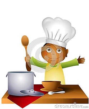 Boy Child in Chef Hat