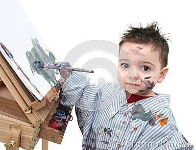 Boy Child Painting 04