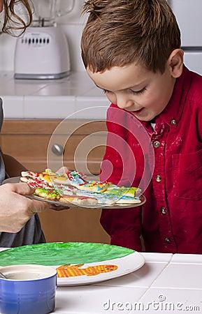 Boy Choosing Cookie