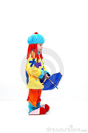 Free Boy Clown Royalty Free Stock Photography - 10096637