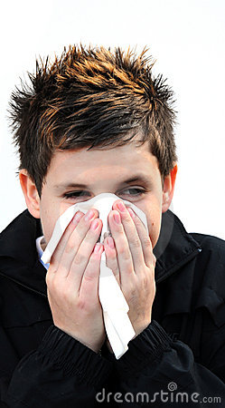 Boy with a cold