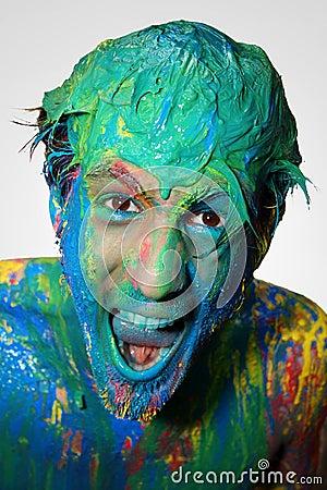 Boy in color