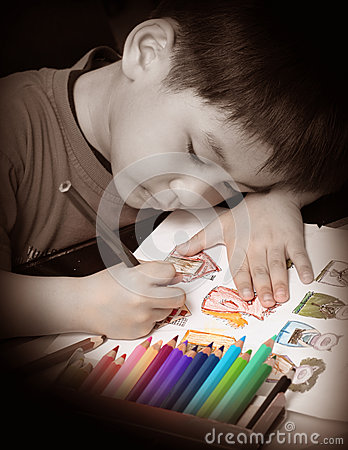 Free Boy Coloring Stock Photography - 29503932