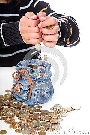 Boy considers money