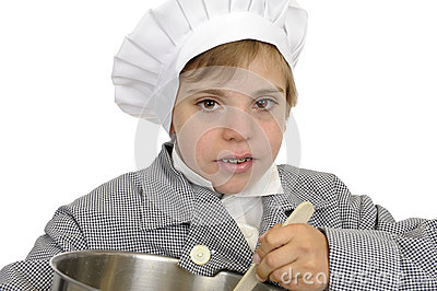 Boy with cook s hat