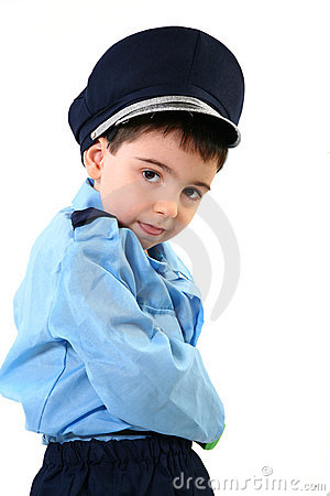 Boy in Cop Costume